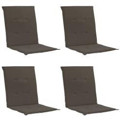stradeXL Poduszki na krzesła ogrodowe, 4 szt., antracytowe, 100x50x3 cm