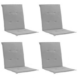 stradeXL Poduszki na krzesła ogrodowe, 4 szt., szare, 100x50x3 cm
