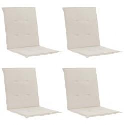 stradeXL Poduszki na krzesła ogrodowe, 4 szt., kremowe, 100x50x3 cm