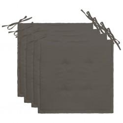 stradeXL Poduszki na krzesła ogrodowe, 4 szt., antracyt, 40 x 40 x 4 cm