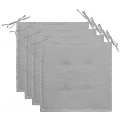 stradeXL Poduszki na krzesła ogrodowe, 4 szt., szare, 40 x 40 x 3 cm