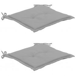 stradeXL Poduszki na krzesła ogrodowe, 2 szt., szare, 50x50x3 cm