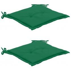 stradeXL Poduszki na krzesło ogrodowe, 2 szt., zielone, 50x50x3 cm