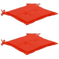 stradeXL Poduszki na krzesło ogrodowe, 2 szt., czerwone, 50x50x3 cm