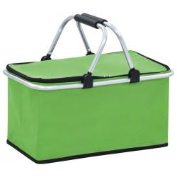 stradeXL Składana torba termiczna, zielona, 46x27x23 cm, aluminium