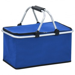 stradeXL Foldable Cool Bag Blue 46x27x23 cm Aluminium