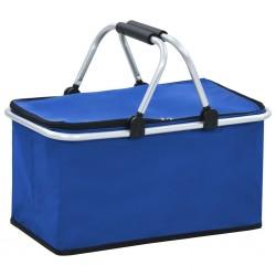 stradeXL Składana torba termiczna, niebieska, 46x27x23 cm, aluminium