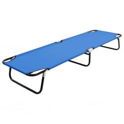 stradeXL Folding Sun Lounger Blue Steel