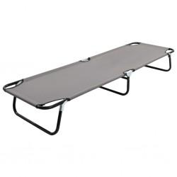 stradeXL Folding Sun Lounger Grey Steel
