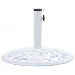 stradeXL Podstawa pod parasol, biała, 12 kg, 48 cm, żeliwo
