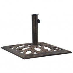 47868 stradeXL Umbrella Base Bronze 12 kg 49 cm Cast Iron