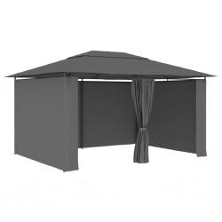 stradeXL Namiot ogrodowy z zasłonami, 4 x 3 m, antracytowy