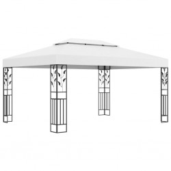 stradeXL Gazebo with Double Roof 3x4 m White