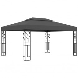 stradeXL Gazebo with Double Roof 3x4m Anthracite
