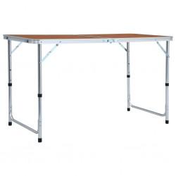 stradeXL Składany stolik turystyczny, aluminiowy, 120x60 cm