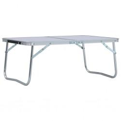 stradeXL Składany stolik turystyczny, biały, aluminiowy, 60x40 cm