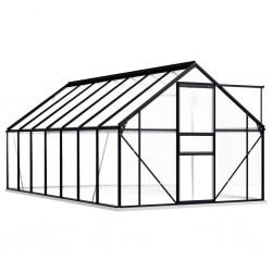 stradeXL Greenhouse with Base Frame Anthracite Aluminium 8.17 m²