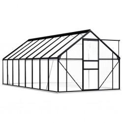 stradeXL Greenhouse with Base Frame Anthracite Aluminium 9.31 m²