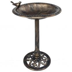 stradeXL Garden Bird Bath Bronze Plastic