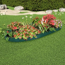 stradeXL Lawn Edgings 10 pcs Green 65x15 cm PP