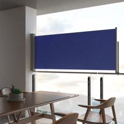stradeXL Patio Retractable Side Awning 100x300 cm Blue