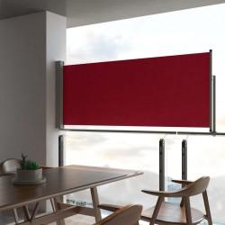stradeXL Wysuwana markiza boczna na taras, 100 x 300 cm, czerwona