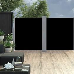 stradeXL Wysuwana markiza boczna, dwustronna, 170x600 cm, czarna