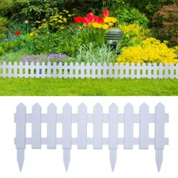 stradeXL Lawn Edgings 25 pcs White 10 m PP