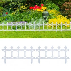 stradeXL Lawn Edgings 16 pcs White 10 m PP