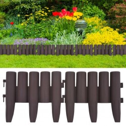 stradeXL Lawn Edgings 36 pcs Brown 10 m PP