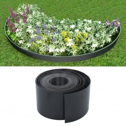 stradeXL Garden Edging Grey 10 m 15 cm PE