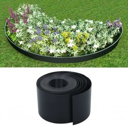 stradeXL Garden Edging Black 10 m 15 cm PE