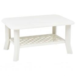stradeXL Stolik kawowy, biały, 90x60x46 cm, plastikowy