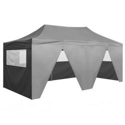 stradeXL Profesjonalny, składany namiot imprezowy, 4 ściany, 3x6 m, stal