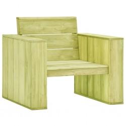 stradeXL Krzesło ogrodowe, 89x76x76 cm, impregnowane drewno sosnowe