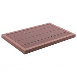 stradeXL Floor Element for Solar Shower Brown 101x63x55 cm WPC