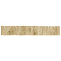 stradeXL Border Roll Green 120 cm Impregnated Pinewood