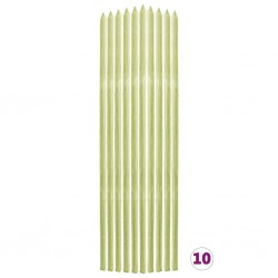 stradeXL Tyczki do roślin, 10 szt., 2,8x2,8x150 cm, drewno sosnowe