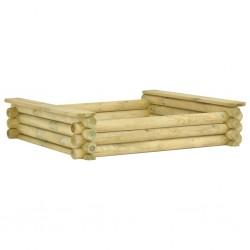 stradeXL Piaskownica, 120 x 120 x 27 cm, impregnowane drewno sosnowe