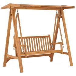 stradeXL Swing Bench 170 cm Solid Teak Wood