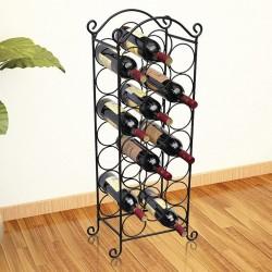 stradeXL Metalowy stojak na 21 butelek wina