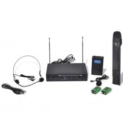 Odbiornik z bezprzewodowym mikrofonem oraz słuchawkami VHF