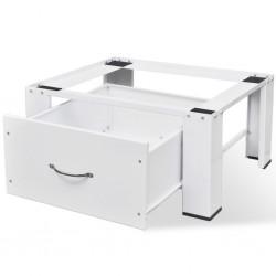 stradeXL Podest pod pralkę z szufladą, biały