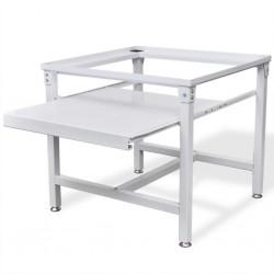 stradeXL Podest pod pralkę z półką w białym kolorze