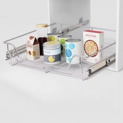 stradeXL Pull-Out Wire Baskets 2 pcs Silver 600 mm