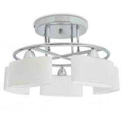 stradeXL Lampa sufitowa, 5 żarówek E14, klosze w kształcie elipsy, 200 W
