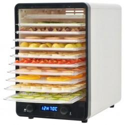 stradeXL Dehydrator do żywności z 10 tacami, biały, 550 W