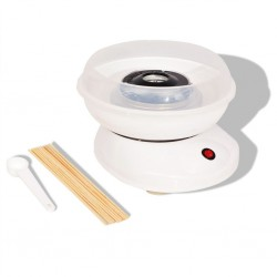 stradeXL Urządzenie do robienia waty cukrowej 480 W, białe