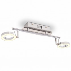stradeXL LED Wall / Ceiling Lamp with 2 Lights Warm White