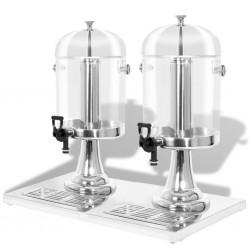 stradeXL Double Juice Dispenser Stainless Steel 2 x 8 L